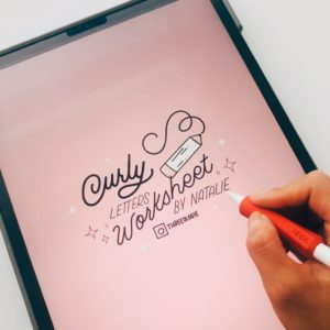 curly letters worksheets learn hand lettering