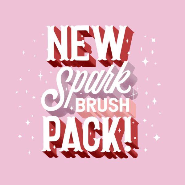 procreate spark brush pack learn hand lettering