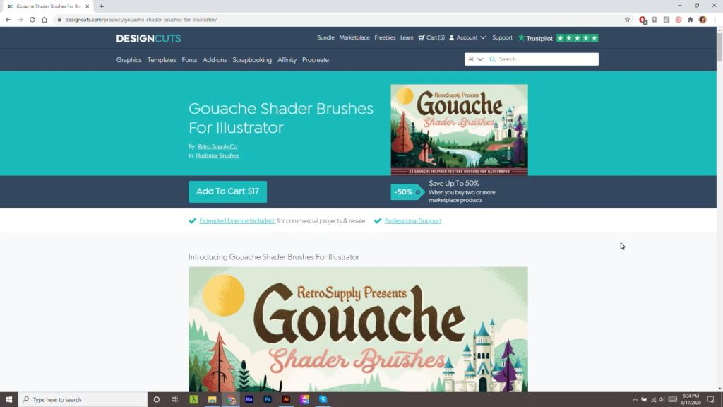 designcuts gouache brushes texture