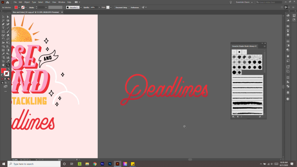 add texture to lettering illustrator
