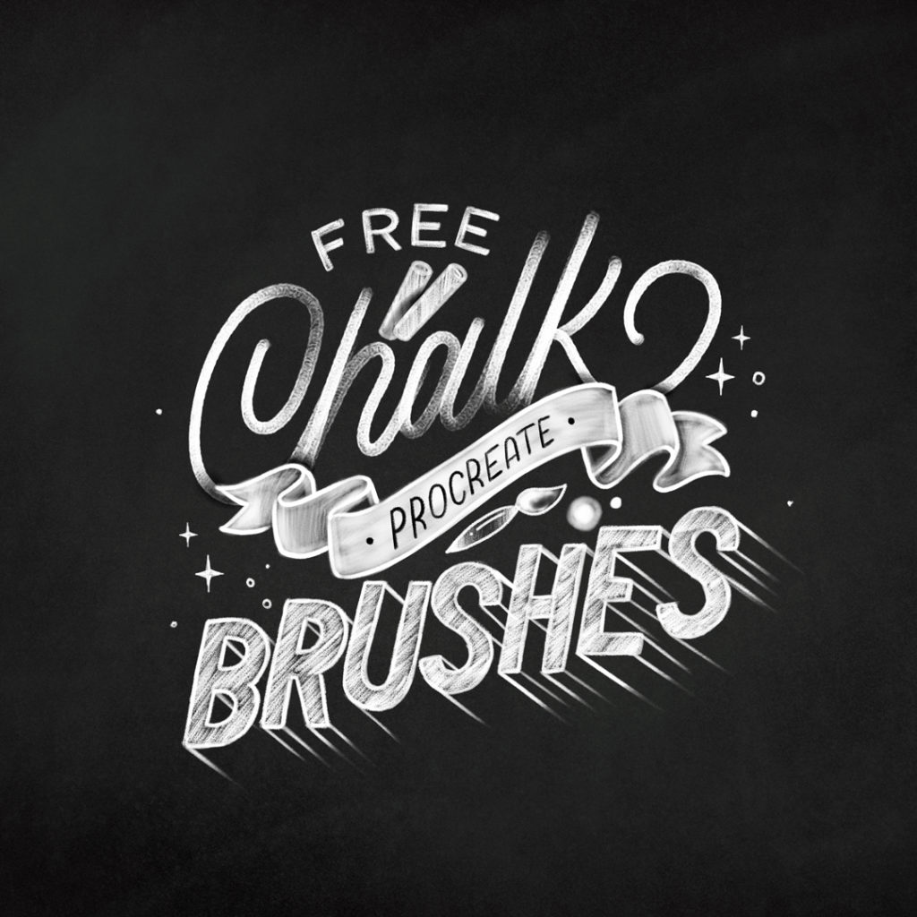 free procreate chalk brushes