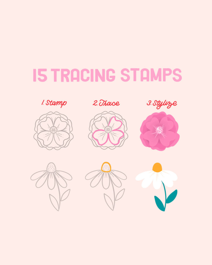 Procreate flower tracing stamps free